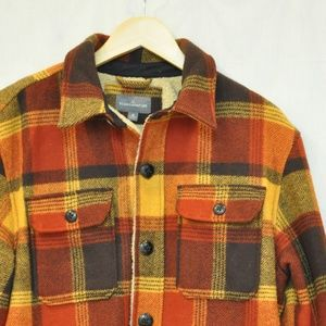 LL Bean Signature Lined Wool-Blend Shirt Jacket M